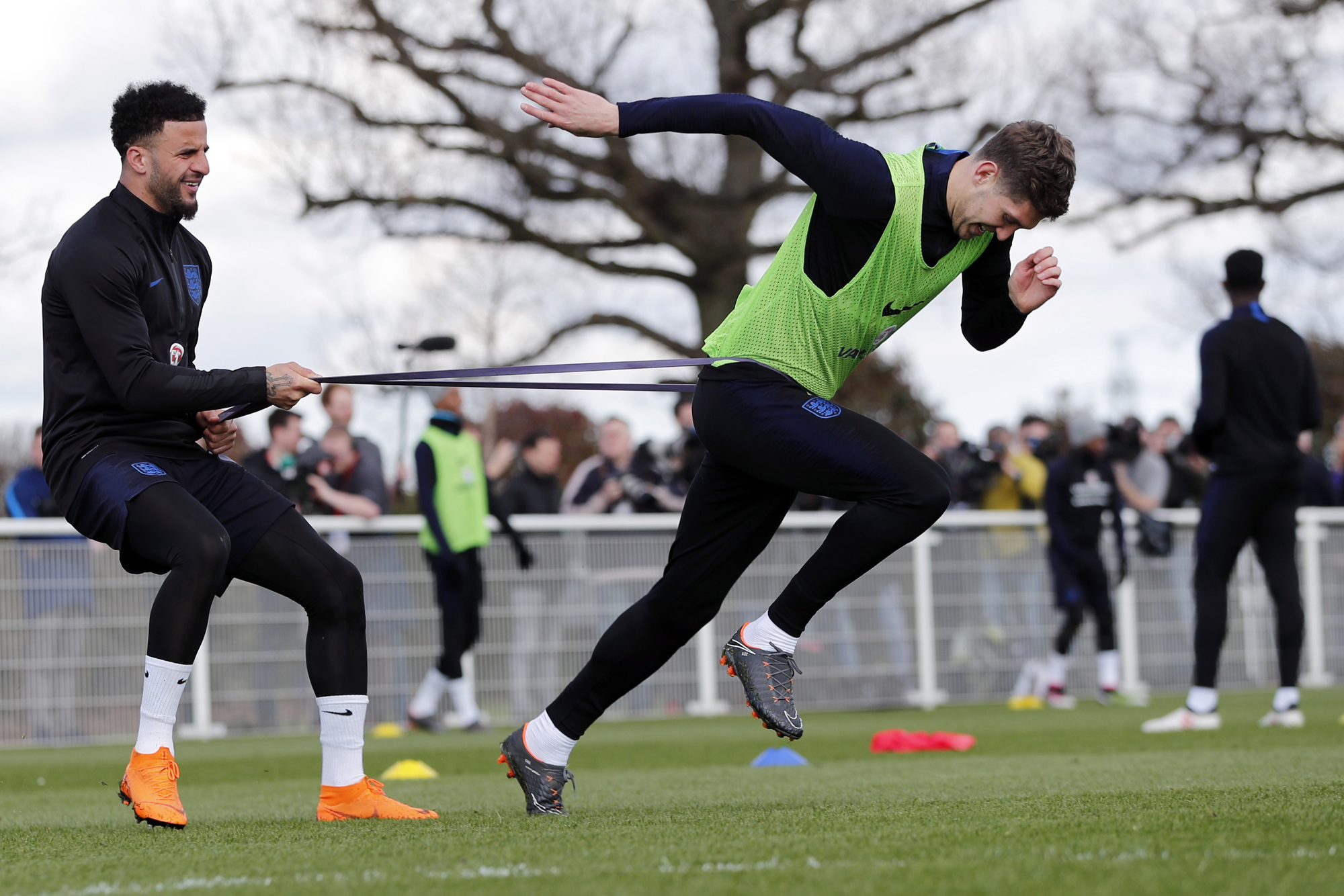 England Squad train for World Cup in Staffordshire