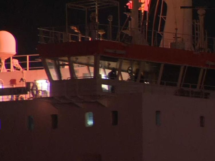 SBS retake cargo ship after migrants threatened staff