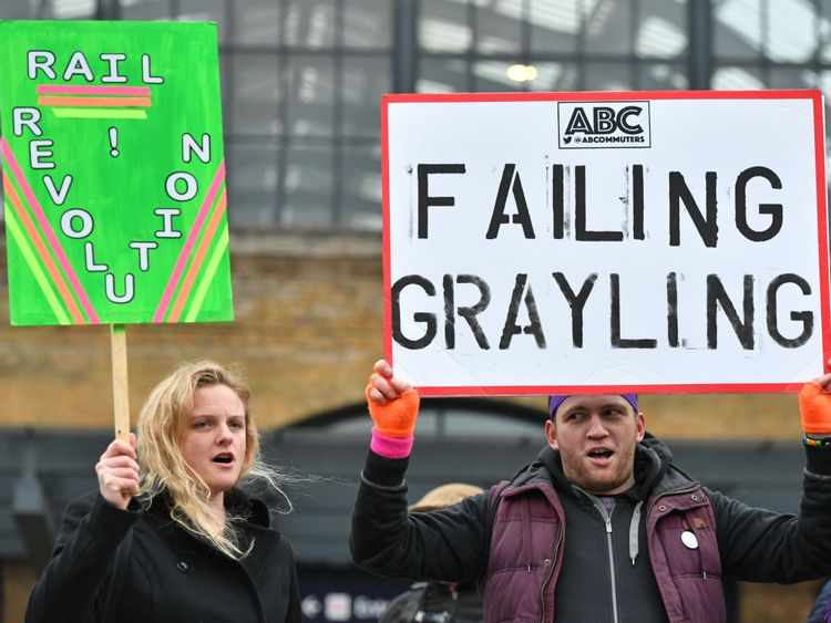 Anger at 'disgraceful' rail fare rises as stations hit by protests