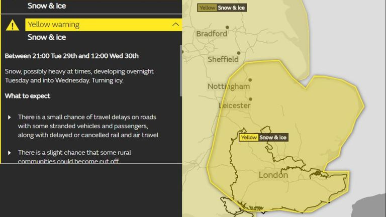 Heavy snow could cut off villages, Met Office warns