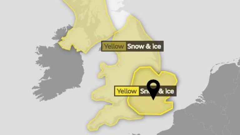 'Thick and fast': Snow hits UK as warnings are extended for two days