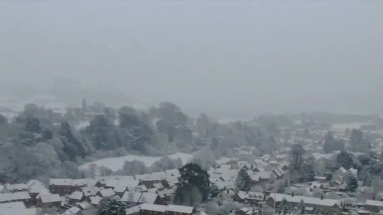 Snow and ice warnings remain as winter chill blasts Britain