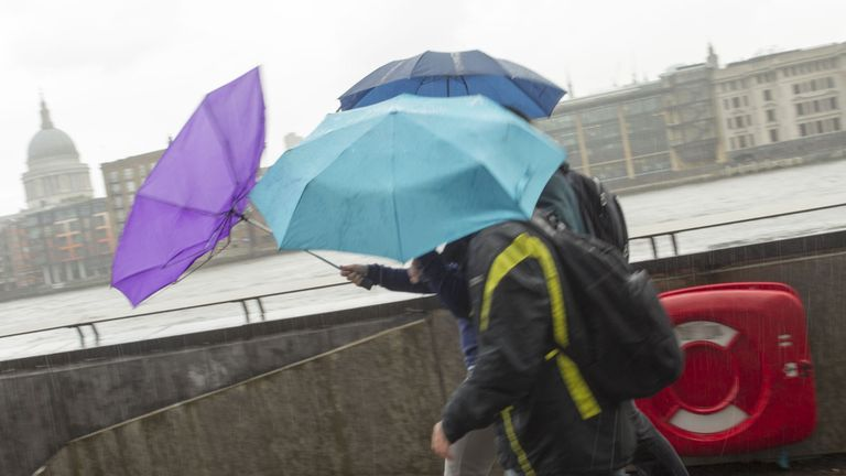 UK braced for travel chaos as rain and 70mph wind expected