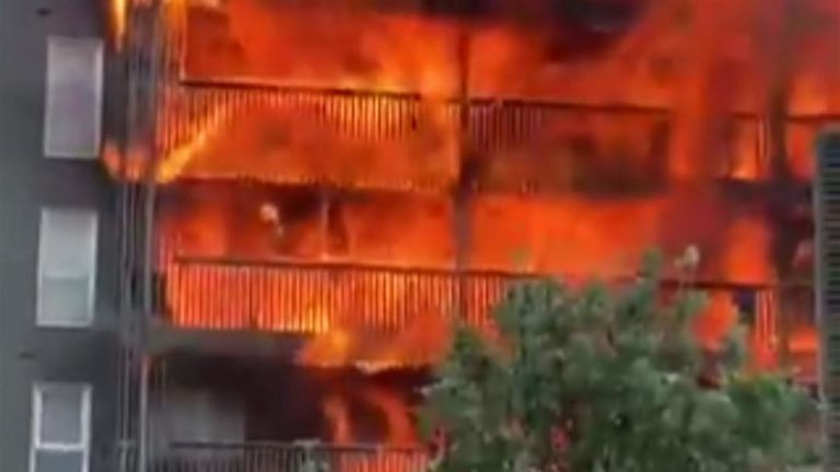 20 flats destroyed by massive fire in east London