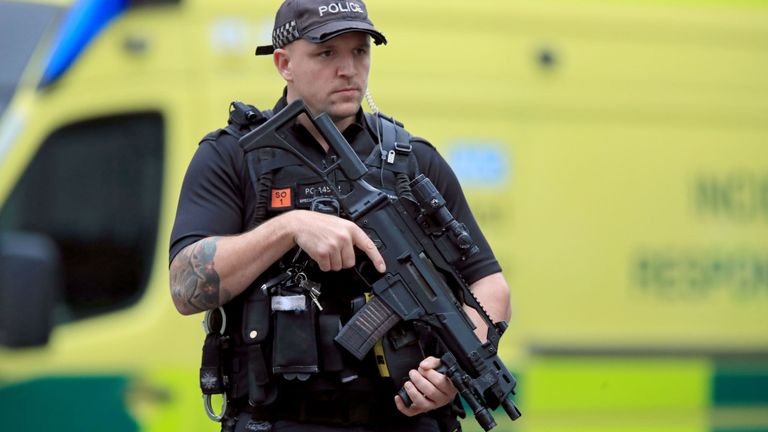 Counter-terror police lead investigation after five stabbed in Manchester