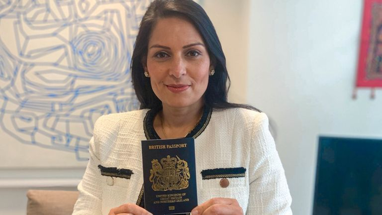 'Iconic' blue UK passports to be issued from next month