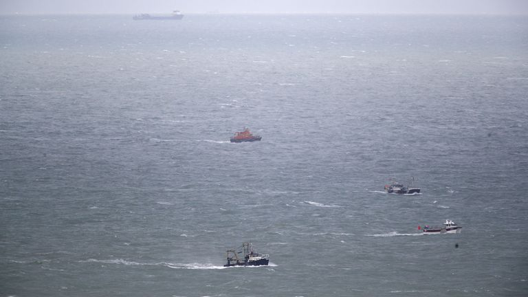 Search resumes for two missing fishermen after boat sinks off East Sussex coast