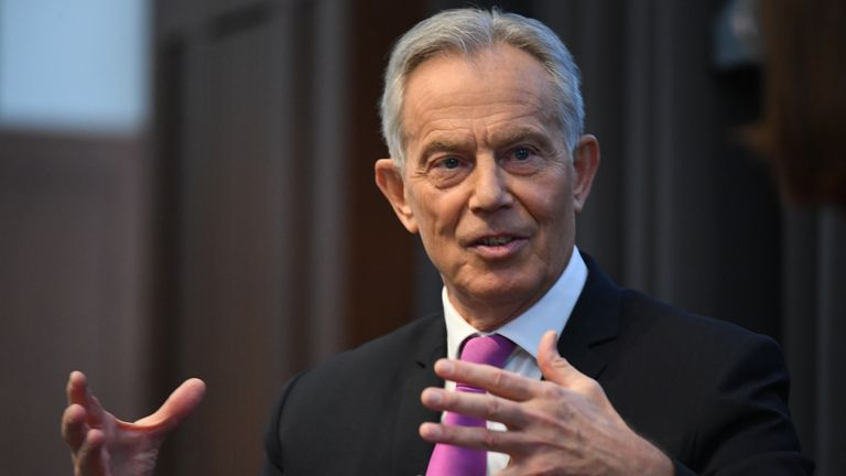 'Time to distinguish' between those who have and have not had a COVID jab, Tony Blair says