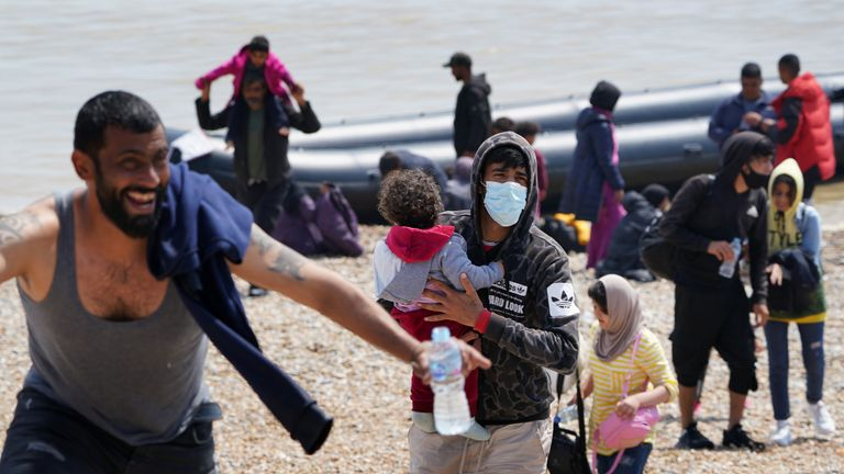 Highest ever single day total of migrants sailing across the Channel arrive in the UK
